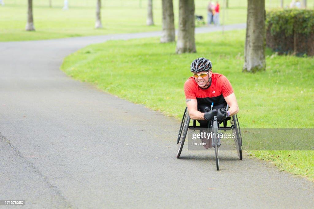 Atleti su sedia a rotelle : Foto stock