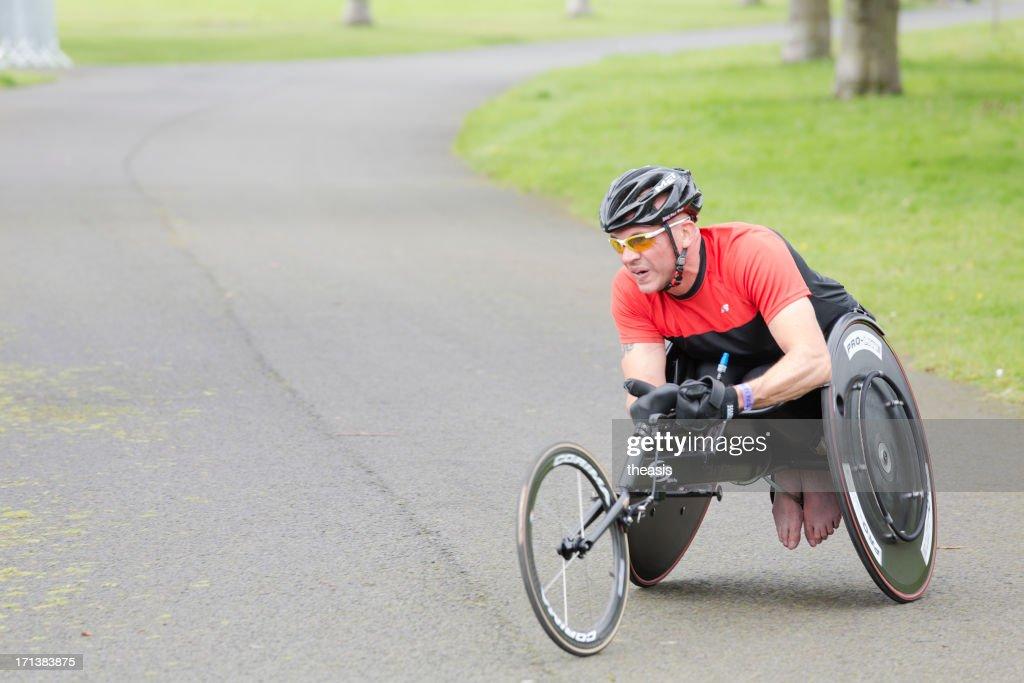 Wheelchair Athlete : Stock Photo