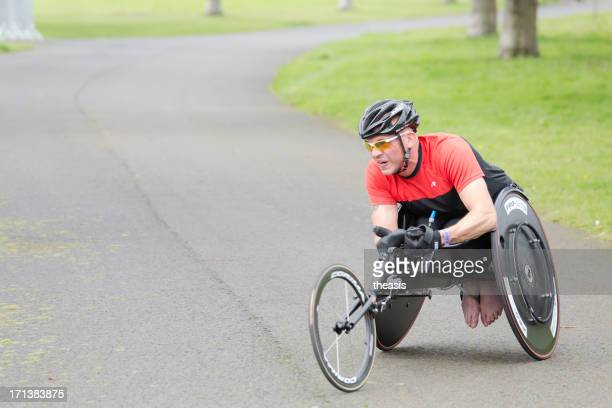 wheelchair athlete - theasis stock pictures, royalty-free photos & images