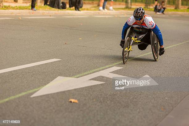 wheelchair athlete - paraplegic stock photos and pictures