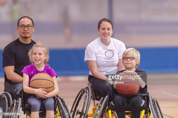 Wheelchair basketball athletes