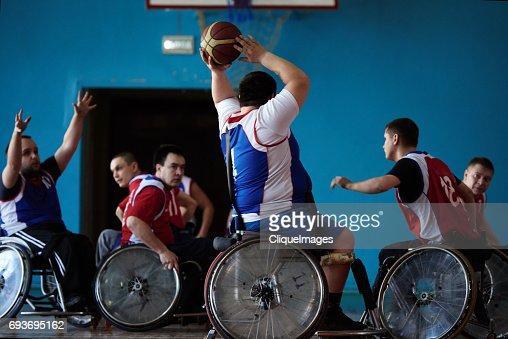 Wheelchair basketball match