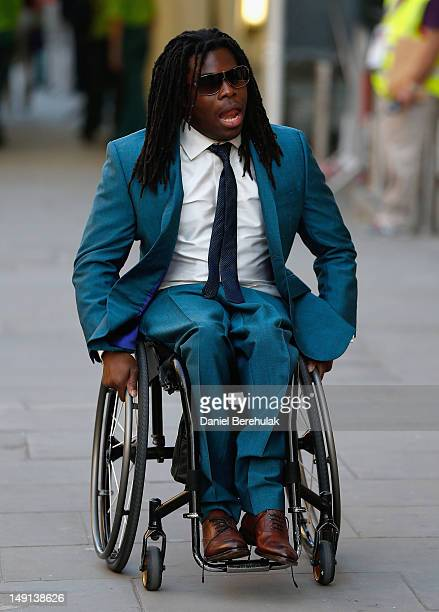 Wheelchair basketball player Ade Adepitan attends the Opening Ceremony of the 124th IOC Session prior to the start of the London 2012 Olympic Games...