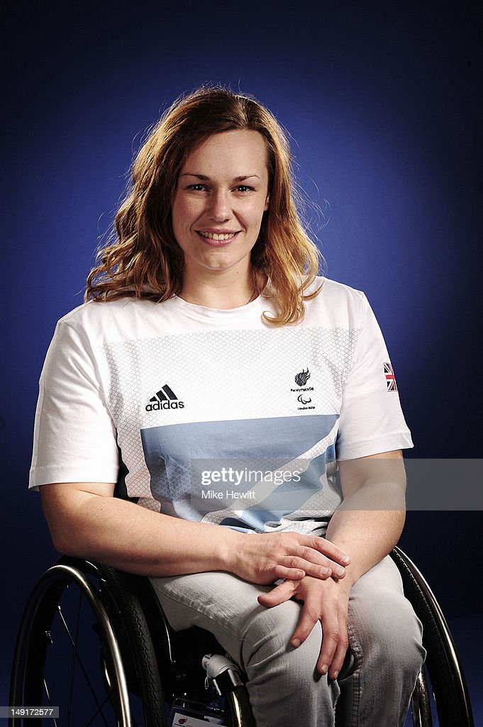 Wheelchair basketball player Louise Sugden attends the Team GB Paralympic launch at the Park Plaza Hotel on July 13, 2012 in London, England