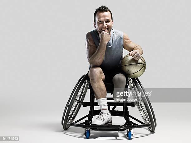 Wheelchair basketball player