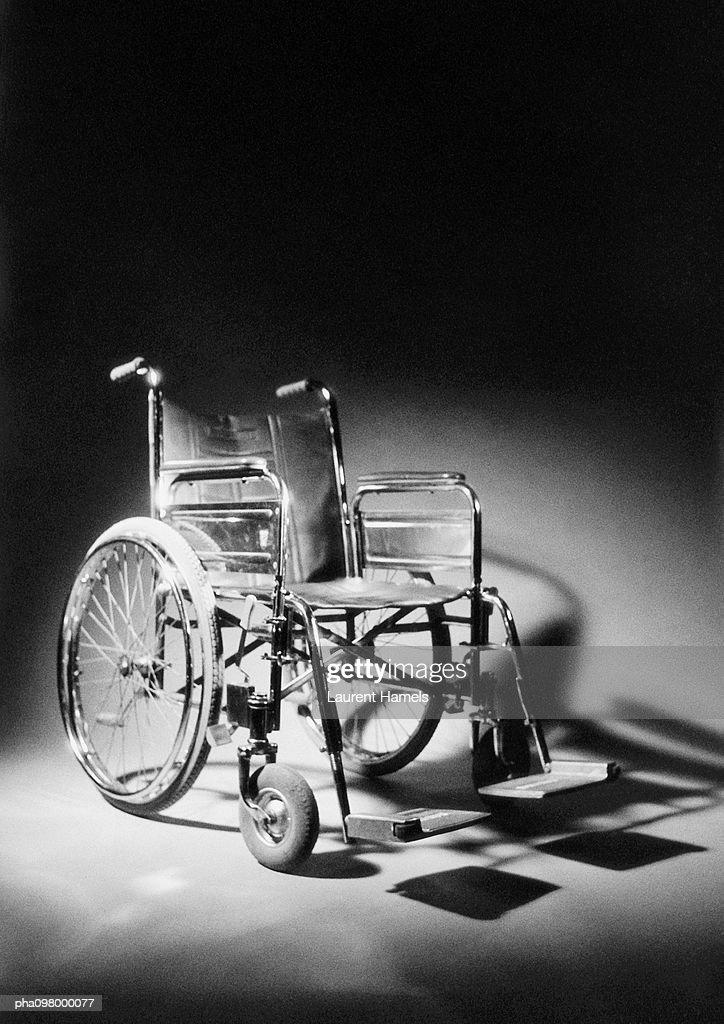 Wheelchair, B&W : Stockfoto