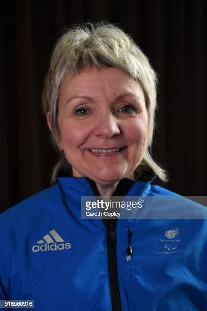 Wheelchair curler Angie Malone during the Great Britain Winter Paralympic Media Day on February 15 2018 in Manchester England