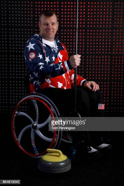 Wheelchair Curler Kirk Black poses for a portrait during the Team USA Media Summit ahead of the PyeongChang 2018 Olympic Winter Games on September 27...