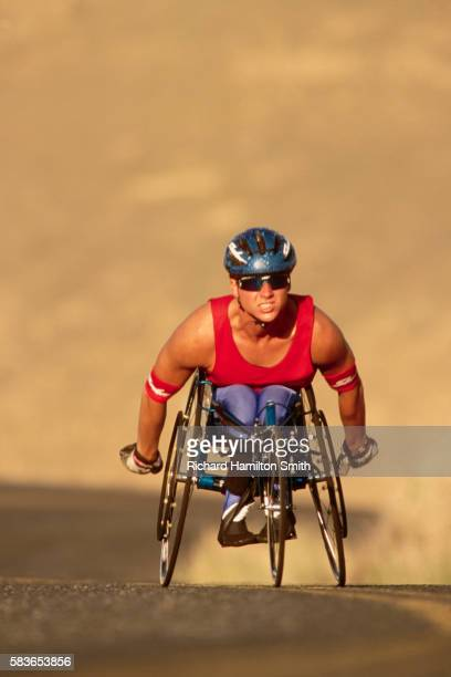 Wheelchair Cyclist in Training