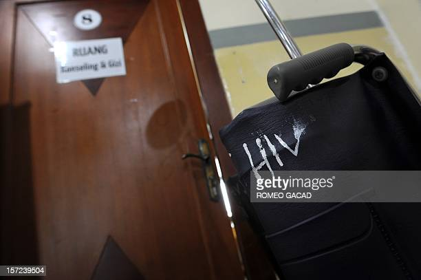 A wheelchair for HIV patients is placed in the counselling room at the HIV integrated care unit of Cipto Mangunkusumo government hospital in Jakarta...