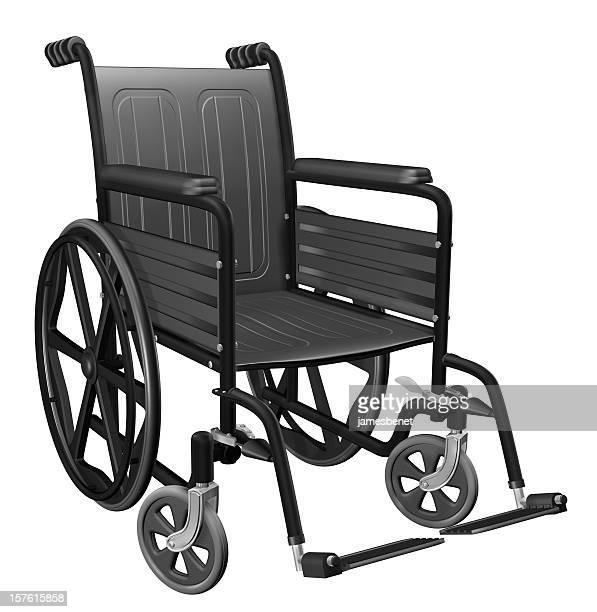 Rollstuhl isoliert (3D