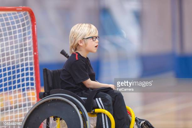 wheelchair lacrosse goalie - fat goalkeeper stock pictures, royalty-free photos & images