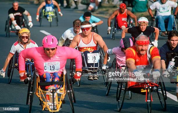 Wheelchair marathon in Washington DC