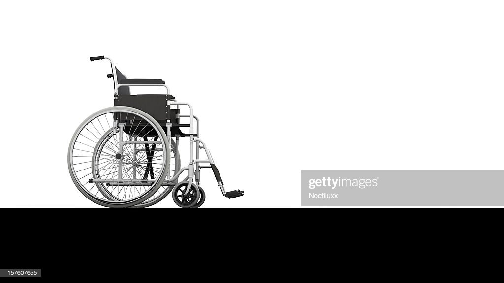 Wheelchair profile view : Stock Photo
