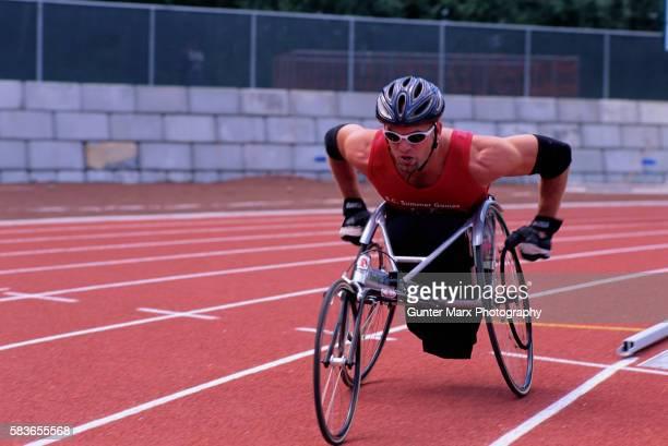 Wheelchair Race Competitor at Swangard Stadium