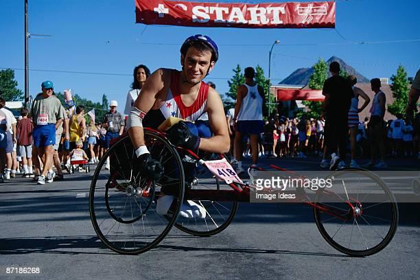 Wheelchair racer, Mt Shasta, CA
