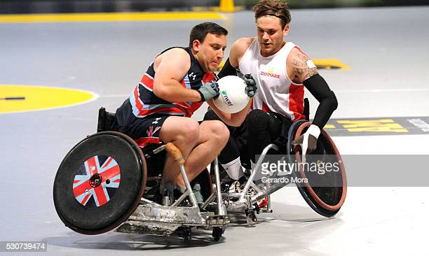Wheelchair Rugby Semi Finals between Denmark and United Kingdom during the Invictus Games Orlando 2016 at the ESPN Wide World of Sports Complex on...