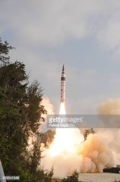 Wheeler Island Odisha India India successfully launches its longest range nuclear weapon capable intercontinental ballistic missile the Agni5 The...