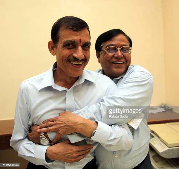 Wheeler Island, Odisha, India L to R Dr. Avinash Chander, chief designer, the Agni-5 missile; and Dr. V K Saraswat, chief, Defence Research and...