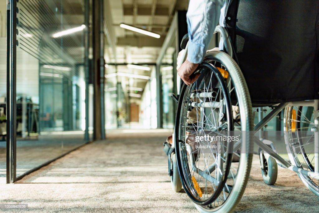 Wheeling his way into recovery : Stock Photo