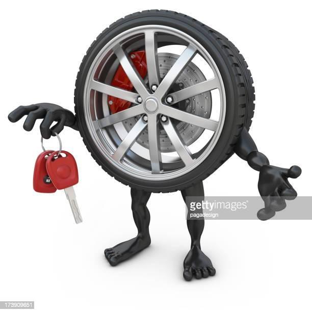 wheelman holding car keys