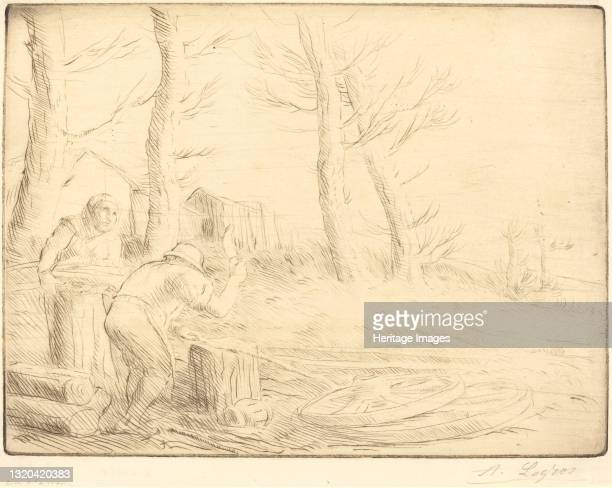 Wheelwright . Artist Alphonse Legros.