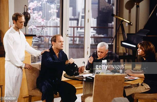 FRASIER When a Man Loves Two Women Episode 21 Pictured David Hyde Pierce as Dr Niles Crane Kelsey Grammer as Dr Frasier Crane John Mahoney as Martin...