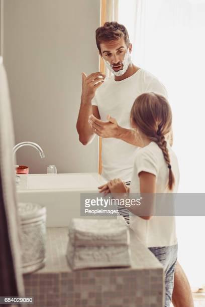Quand puis-je commencer à raser, papa?