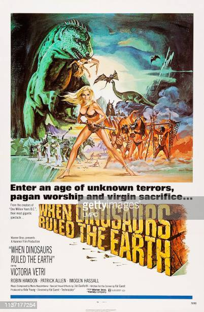 When Dinosaurs Ruled The Earth poster US poster art front Victoria Vetri 1970