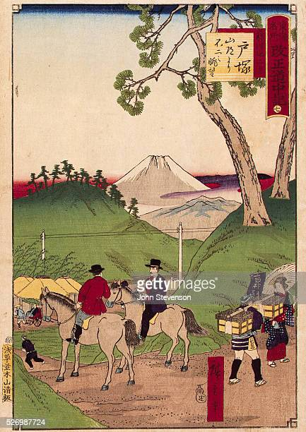 When foreigners began to settle in Japan in the 1860s their strange appearance and habits fascinted the Japanese Artists like Hiroshige III who tried...