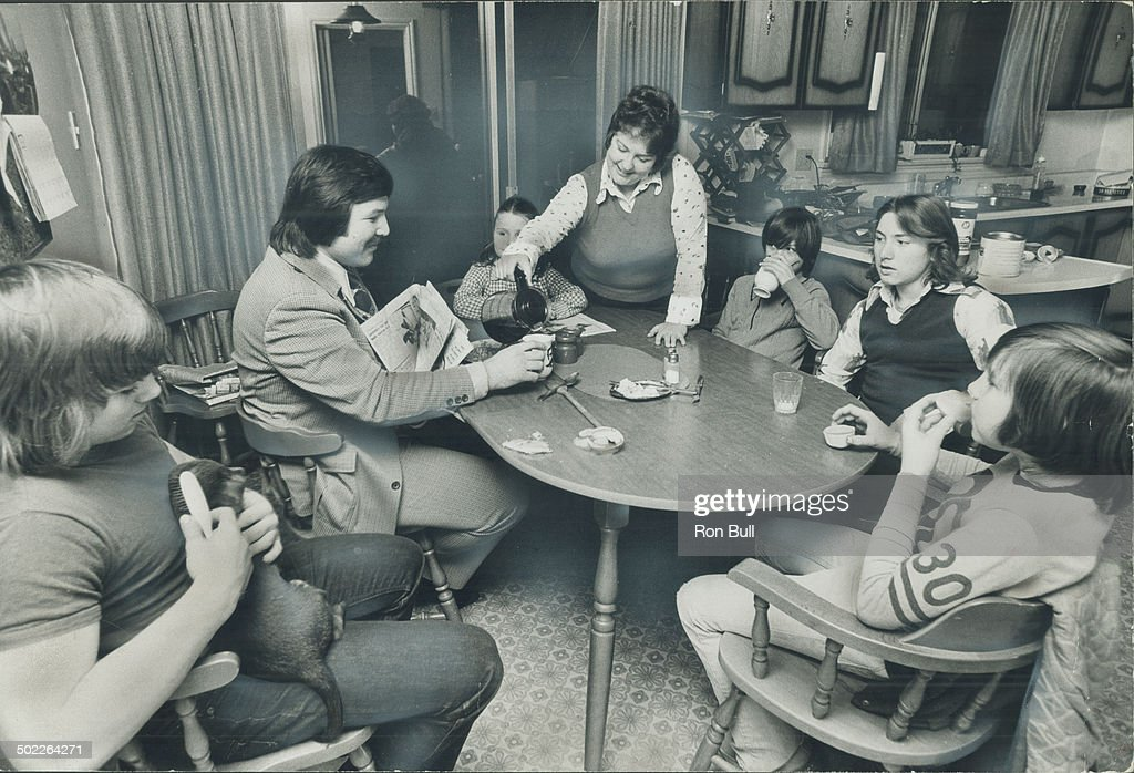 when george chuvalo and family get together around the kitchen table for a snack the talk when george chuvalo and family get together around the kitchen      rh   gettyimages com