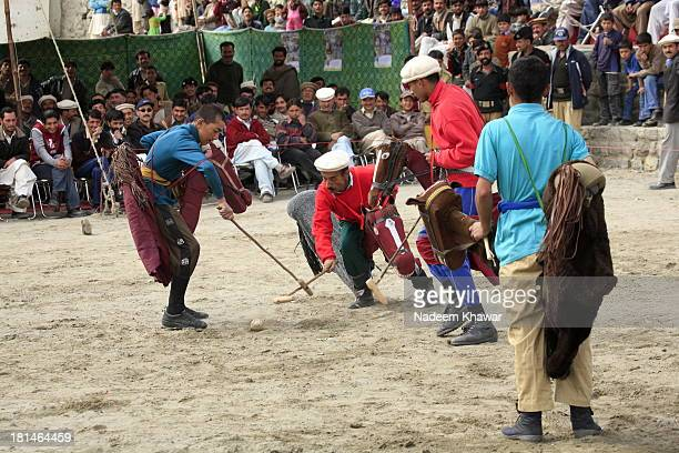 When horse are not available and thrust of polo awake up! A team is playing polo with hand made dummy horses in Hunza valley at the birthday day...