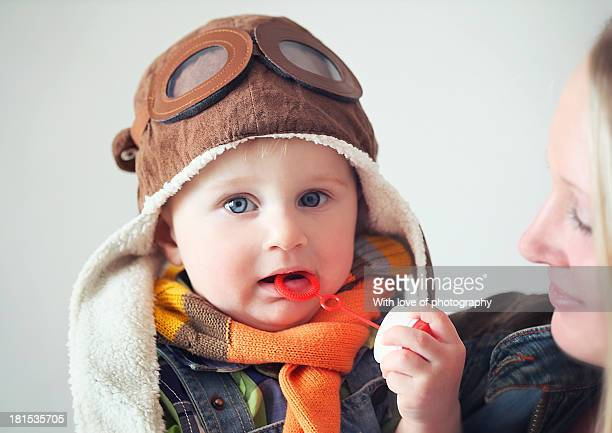 when i grow i want to fly - aviation hat stock photos and pictures