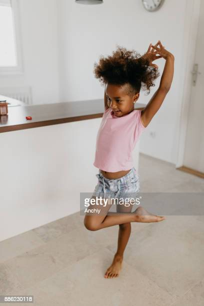 when i grow up i'll be a ballerina - funny black girl stock photos and pictures