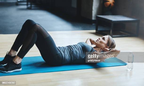 when in doubt crunch it out - sit ups stock photos and pictures