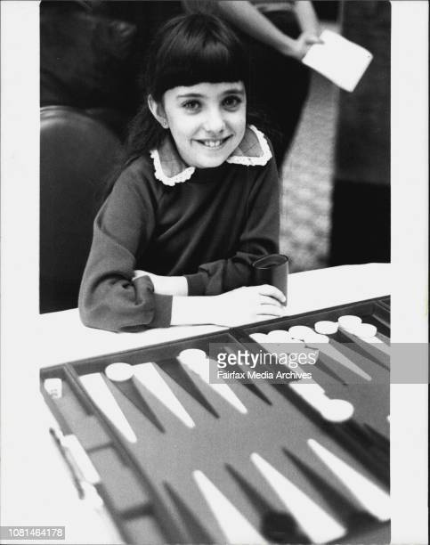 When It comes to backgammon Simone Lourie is not at all backwardIn fact this budding champion specialises in beating adults at the game she only...