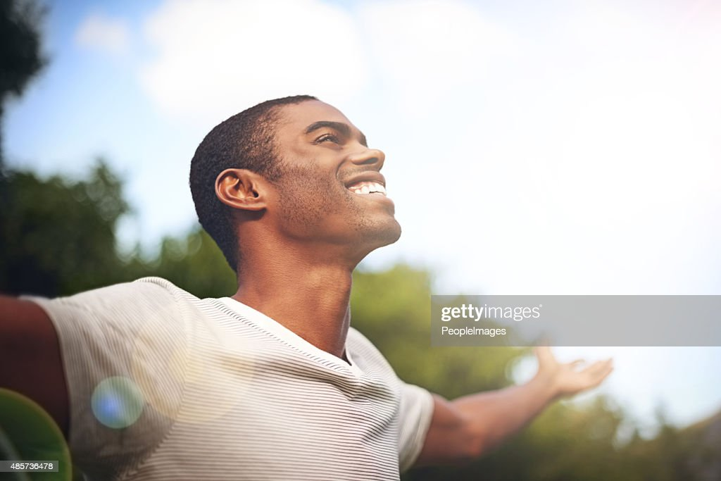 When life smiles at you, smile back : Stock Photo