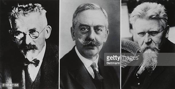When Nazi's Took Them Over and Arrested Leaders Left to right Chief leaders of the German Socialist trade unions Leipart Grassman and Wissell who...