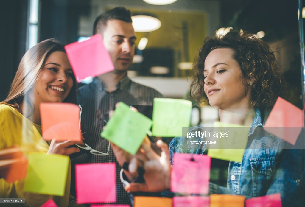 When productivity is a group activity : Stock Photo