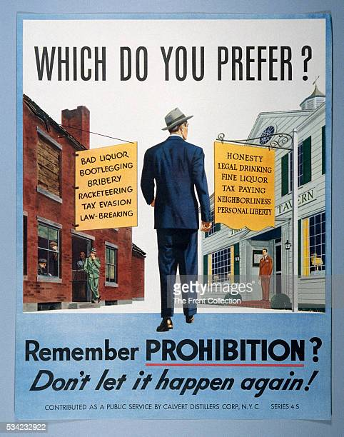 When Prohibition was repealed in 1933 there remained proponents to reinstate it This graphic paper poster illustrating the positive aspects of the...