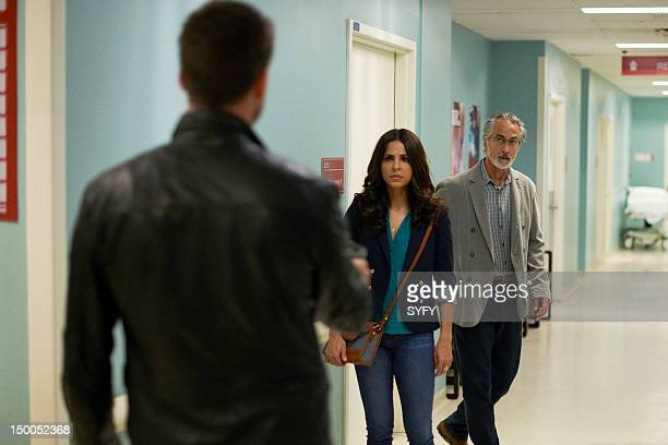 ALPHAS When Push Comes to Shove Pictured Warren Christie as Cameron Hicks Azita Ghanizada as Rachel Pirzad David Strathairn as Dr Lee Rosen