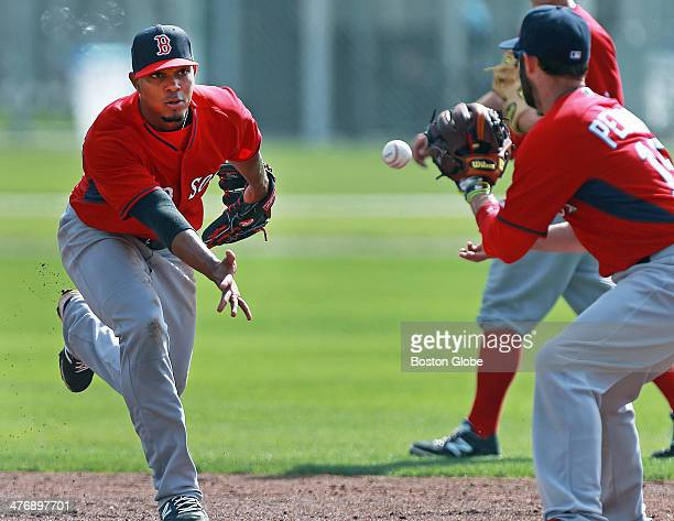 When Red Sox second baseman Dustin Pedroia right opens the season with rookie Xander Bogaerts left as his double play partner at shortstop he will be...