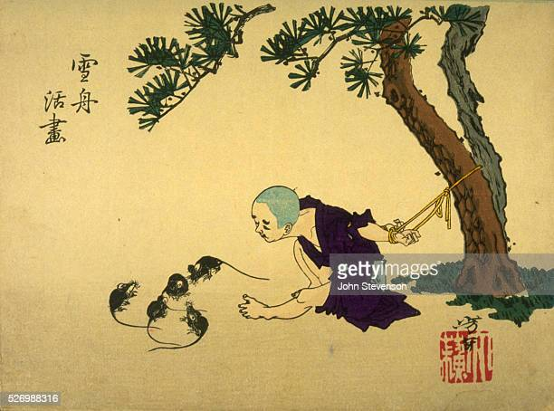When Sesshu was a boy he was tied to a tree for some minor misbehaviour He drew some mice in the sand with his toes they were so realistic that they...