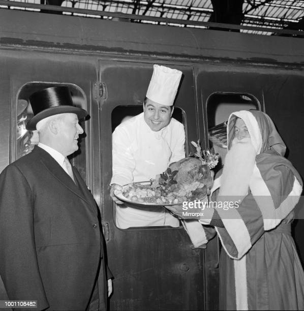 STREET When the 1144am train left Liverpool Street Station today on board was a chef in full regalia accompanied by Santa Claus The chef Mr Pedro...