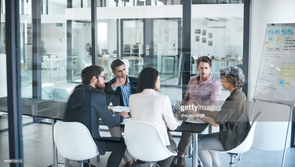 When the best minds in business merge : Foto stock