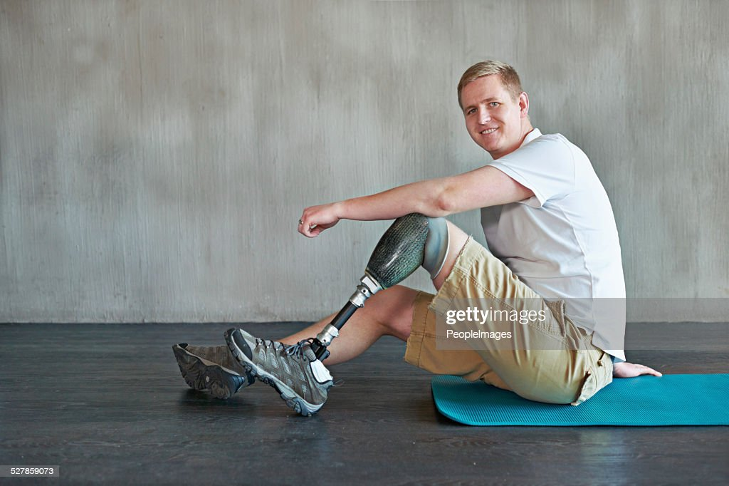 When the mind is strong, the body follows : Stock Photo
