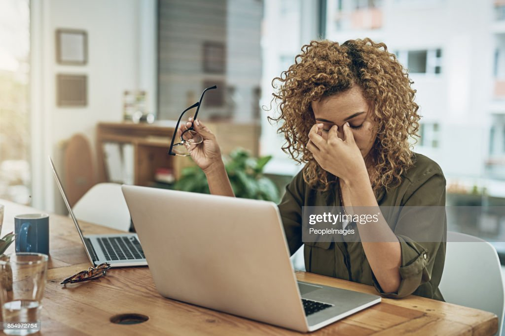 When the road to success leads to stress : Stock Photo
