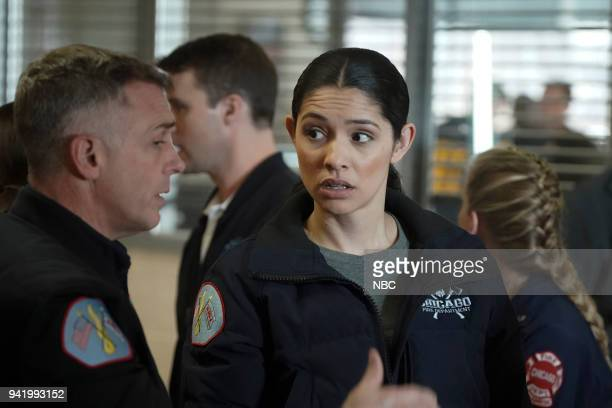 FIRE 'When They See Us Coming' Episode 618 Pictured David Eigenberg as Christopher Herrmann Miranda Rae Mayo as Stella Kidd
