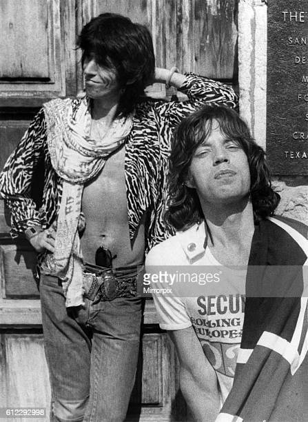 When they stormed into San Antonio Texas for the second concert of their latest American tour Mick Jagger and Co decided to show the flag the British...