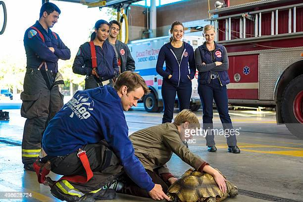 FIRE When Tortoises Fly Episode 408 Pictured Yuri Sardarov as Otis Monica Raymund as Gabriela Dawson Jesse Spencer as Matthew Casey Steven R McQueen...